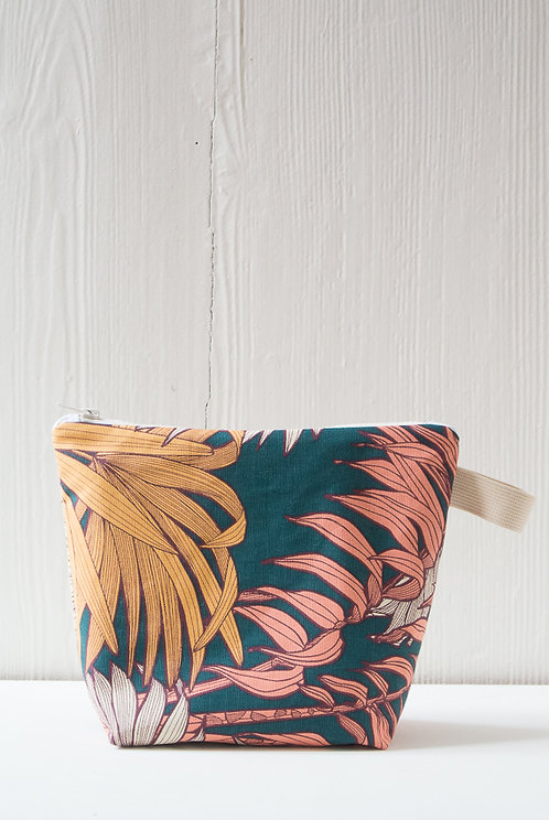 TROUSSE DE TOILETTE TROPICAL MOUTARDE