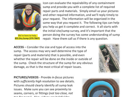 ICON: Site Survey Tips for Repair Evaluation and Parts Specification Support