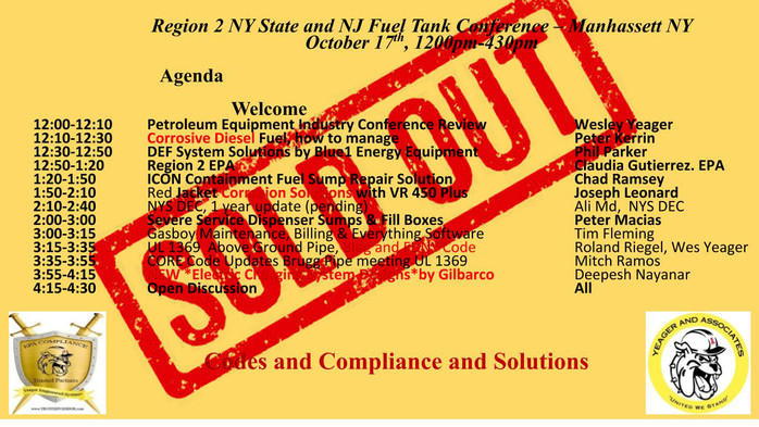 NY & NJ Tank Conference SOLD OUT