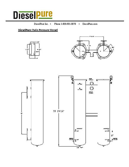 DieselPure Twin ASME Pressure Vessel Dim