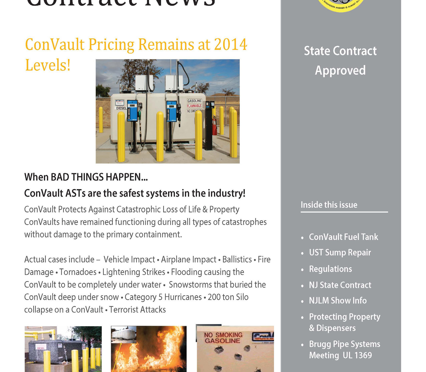 NJ State Fuel Tank Contract News