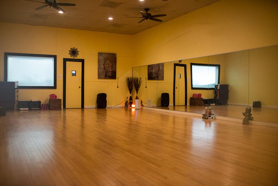 hot yoga room at Hot26 in Puyallup