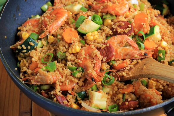 Warm Spanish Shrimp Salad