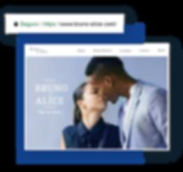 Domínio personalizado em site de casamento