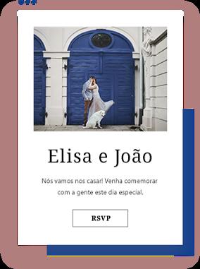 Exemplo de RSVP em site de casamento
