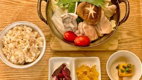 2月の気まぐれ定食とゆず塩鍋