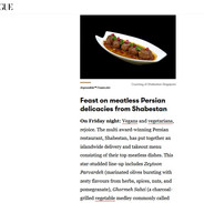 shabestan meatless middle eastern cuisin