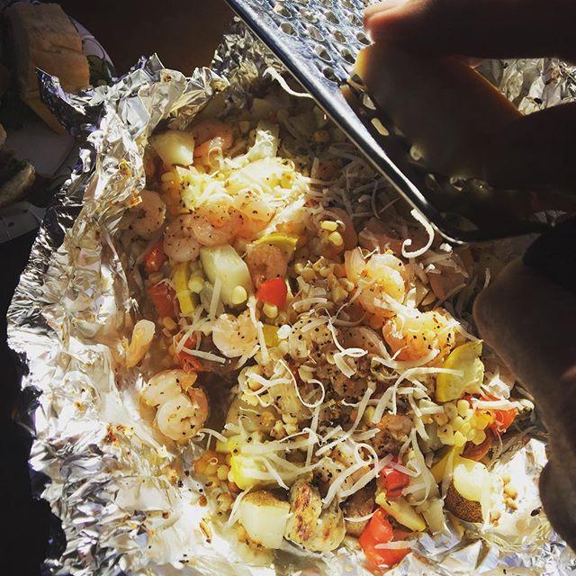 WaterWoody recipes  ( Fave)  Potatoes, shrimp, sausages
