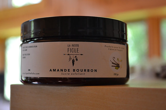 Sucre exfoliant Amande bourbon sugar scrub 230 gr.