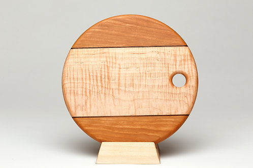 Small Curly Maple and Cherry Cutting Board (#1)