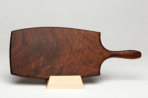Sculpted Handle Walnut Serving Board (#17)