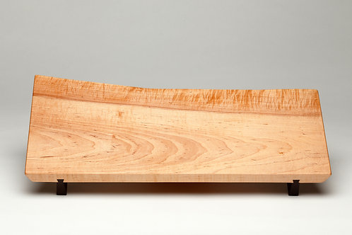 Live Edge Curly Maple Serving Board (#10)