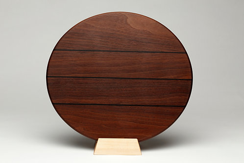 Large Round Walnut Cutting Board (#9)