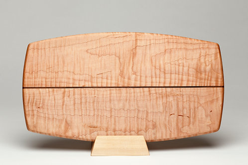 Rounded Curly Maple Serving Board (#8)