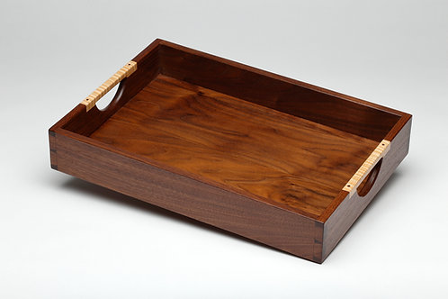 Walnut Serving Tray with Curly Maple Handles (#2)