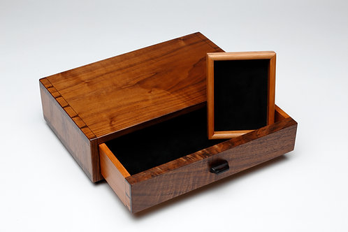One Drawer Walnut Box (#1)