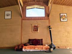 Teaching space at Atma Darshan Yoga Center