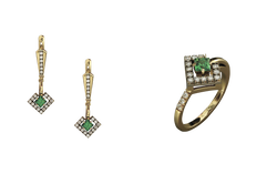 Ювелирные изделия с бриллиантами и з