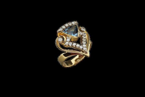 Кольцо. Аквамарин