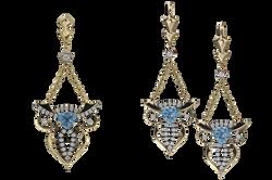 Набор ювелирных украшений с аквамари