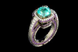 Кольцо. Турмалин Параиба
