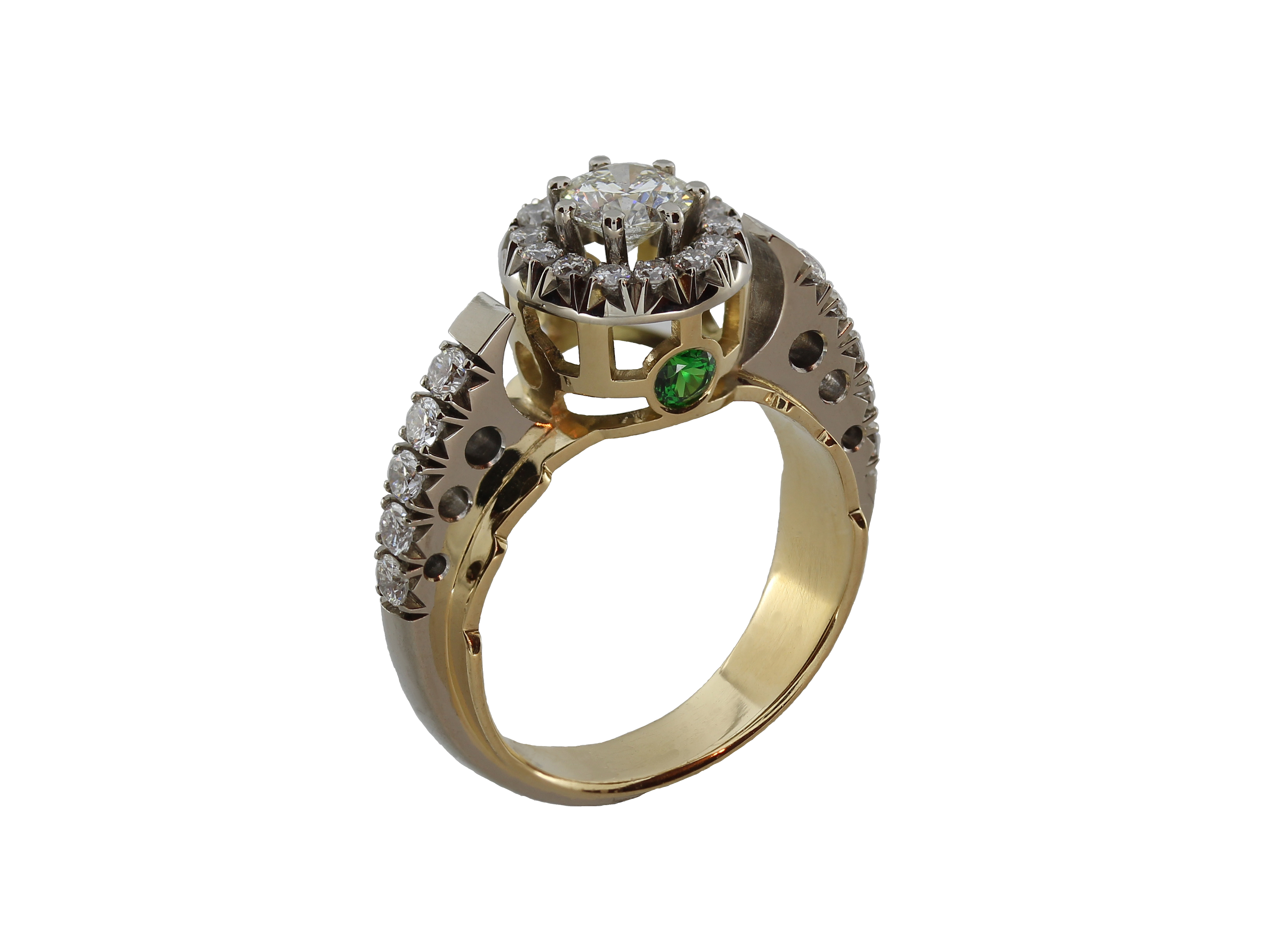 кольцо с бр 0,5 ct
