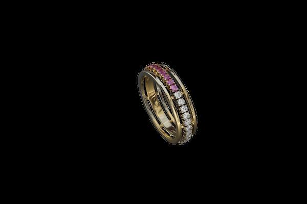 Кольцо. Розовые сапфиры