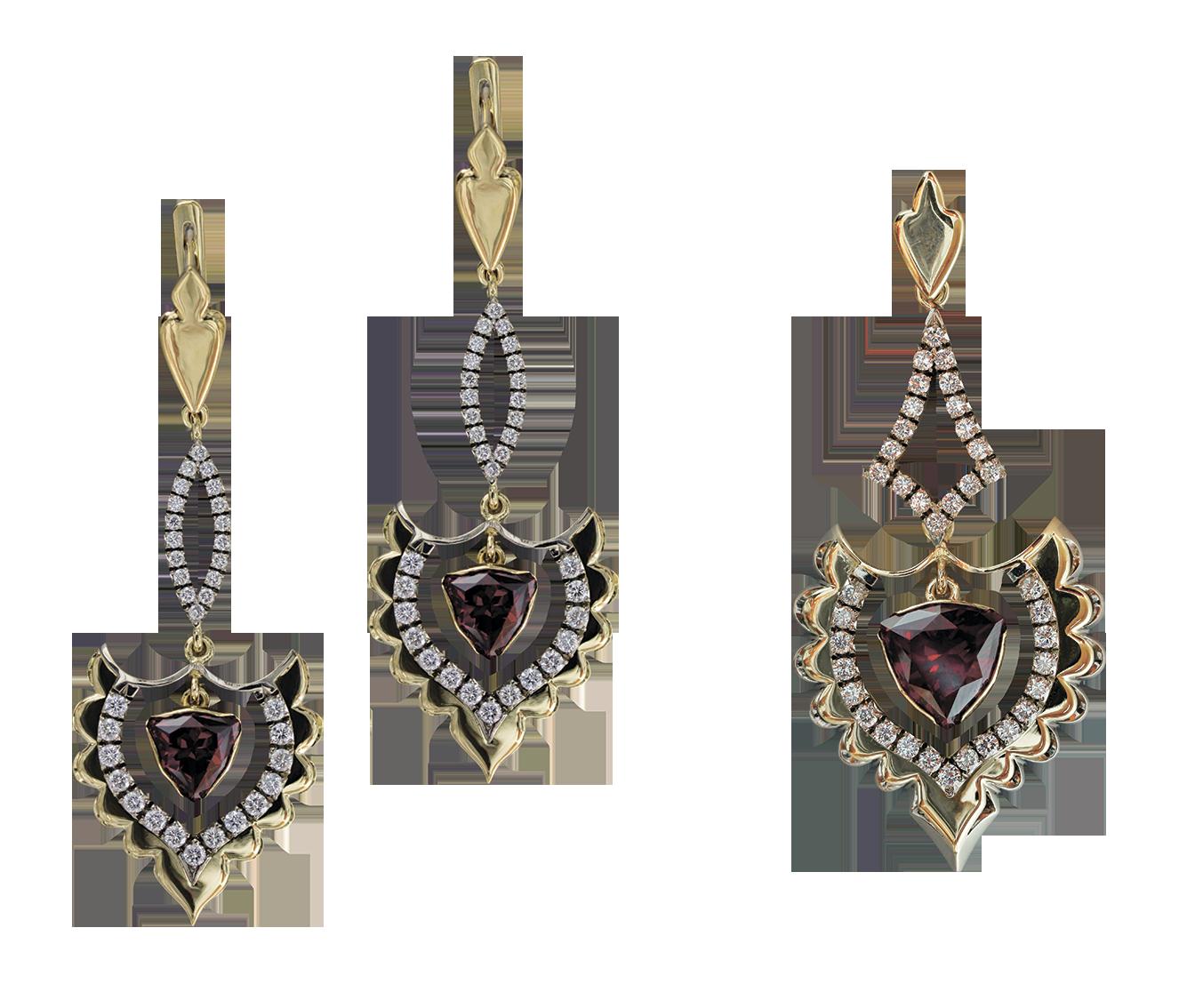 Ювелирные изделия с бриллиантами и а