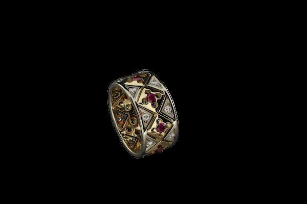 Кольцо. Гранат