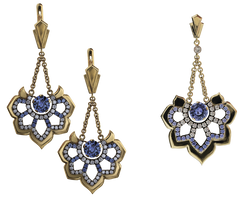 Ювелирные украшения с синими сапфира