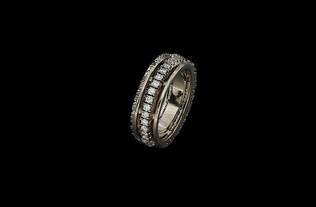 Оригинальное золотое кольцо с бриллиантами