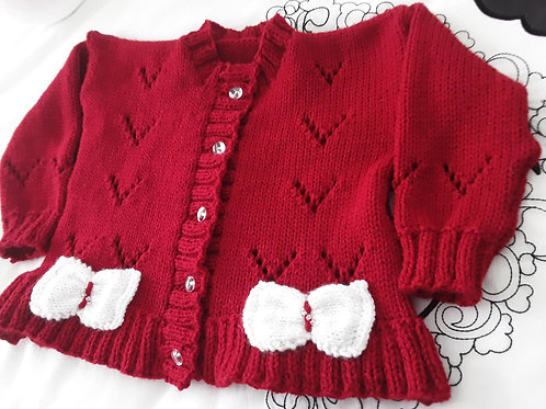 Option 16 Little Bow cardigan only