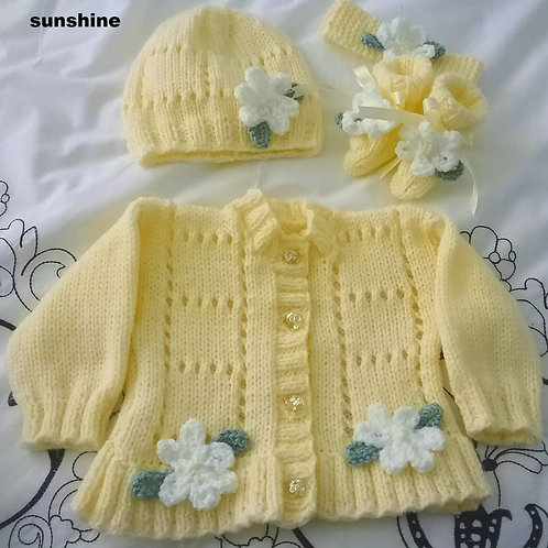 Option 10 squares & flower cardigan only