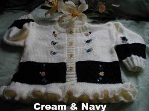 Option 11 block & embroidered cardigan