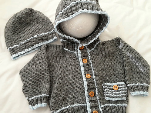 Option N21 unisex hoodie with pocket & matching beanie