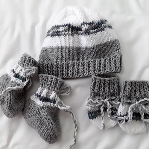 Option B matching Hat, boots & mittens