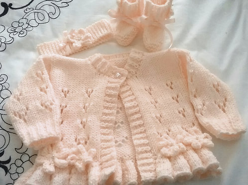 Option 12 lacy fluted hem cardigan only