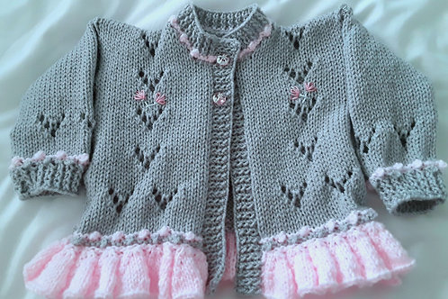 Option 30 Grey frilly cardigan only