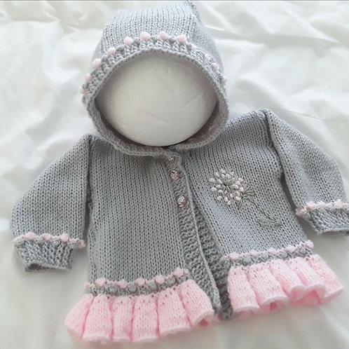 Option 19 cardigan with dandelion and hood