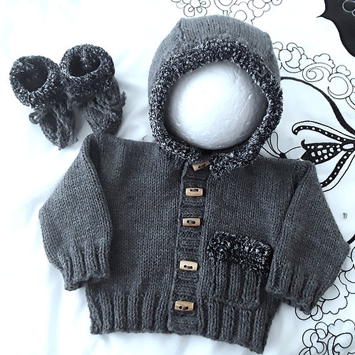Option S plush trimmed hoodie & ugg boots