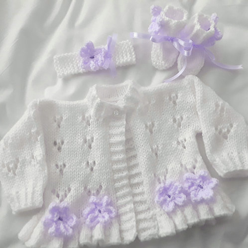 Option 14 lacy daisy cardigan only