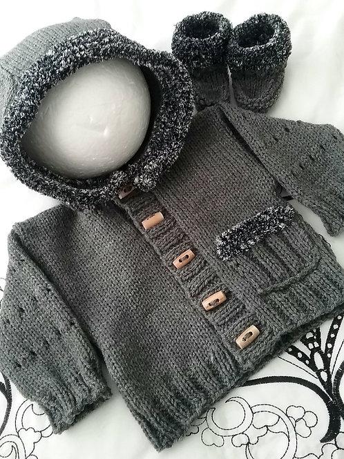 Option U plush trimmed hoodie & ugg boots
