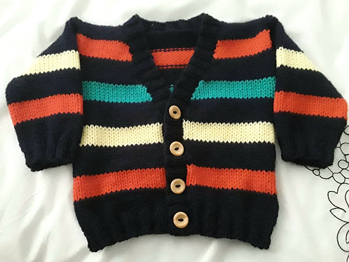 Option E different stripy button up cardigan