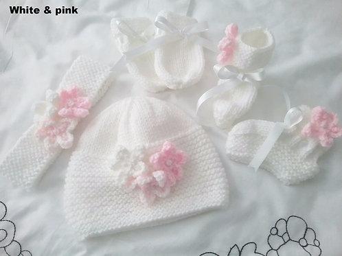 Option 5 matching hat, mittens, Headband & boots