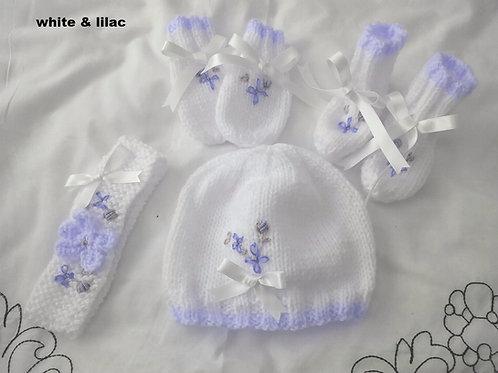 Option 4 matching hat, mittens, boots & headband