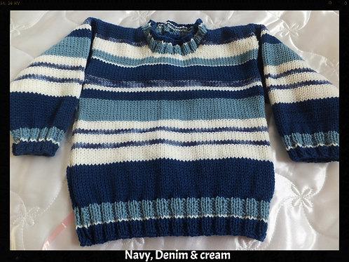 Option M stripe & block sweater