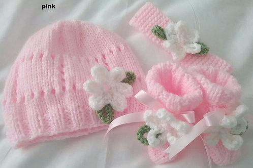 Option 10 matching hat, boots and headband
