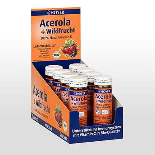 Hoyer Acerola & Wildfrucht Lutschtabletten BIO 60 St.