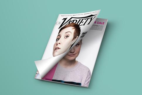 Lena Dunham Variety Magazine Ad