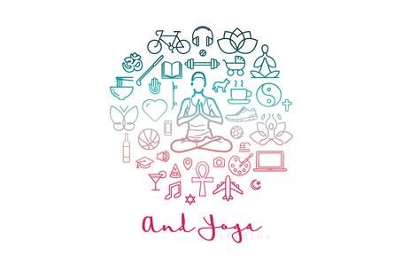 graphic for yoga studio
